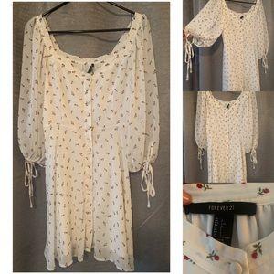 White flowery summer dress